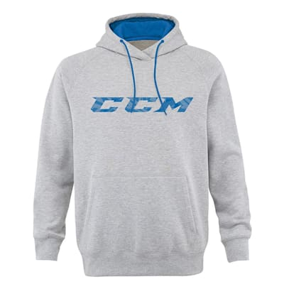 Grey (CCM Ice Cold Fleece Pullover Hockey Hoodie - Mens)