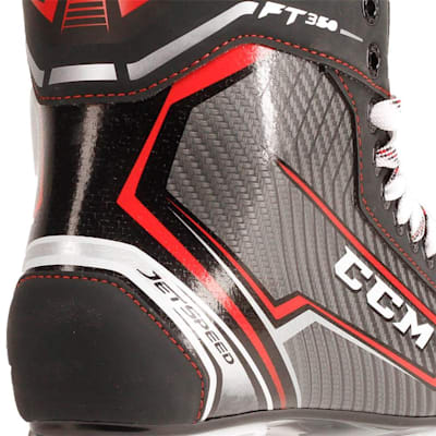 Jetspeed FT350 Ice Skate 2017 - Heel Close up (CCM JetSpeed FT350 Ice Hockey Skates - Senior)