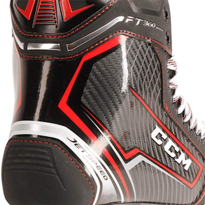 Jetspeed FT360 Ice Skate 2017 - Heel Close up (CCM JetSpeed FT360 Ice Hockey Skates - Senior)