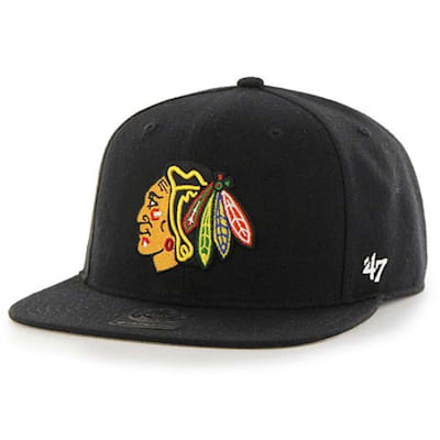 Blackhawks Sure Shot Hat (47 Brand Blackhawks Sure Shot Hockey Hat - Black)