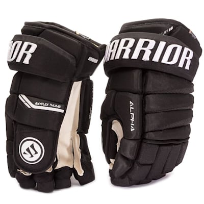 Black (Warrior Alpha Pro Hockey Gloves - Junior)