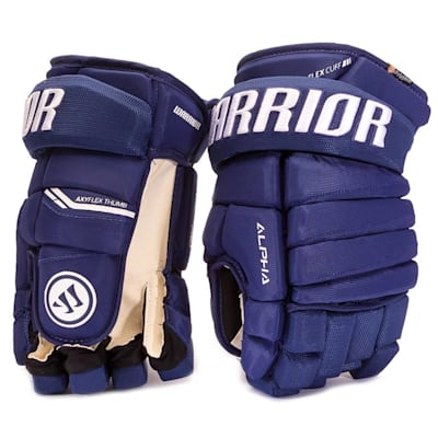 Light Royal (Warrior Alpha Pro Hockey Gloves - Junior)