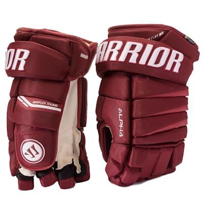 Maroon (Warrior Alpha Pro Hockey Gloves - Junior)