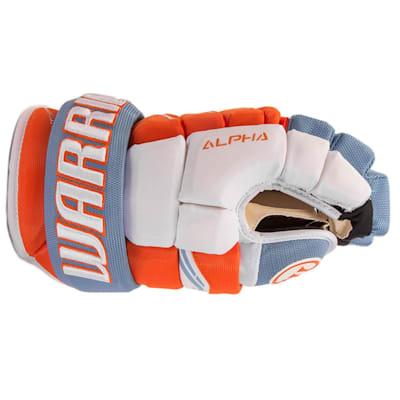Side View (Warrior Alpha Pro Hockey Gloves - Senior)