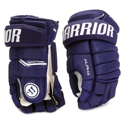 Dark Royal (Warrior Alpha Pro Hockey Gloves - Senior)