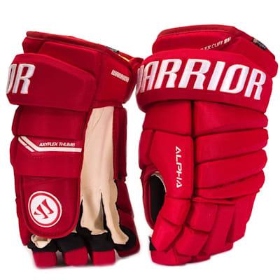 Red (Warrior Alpha Pro Hockey Gloves - Senior)