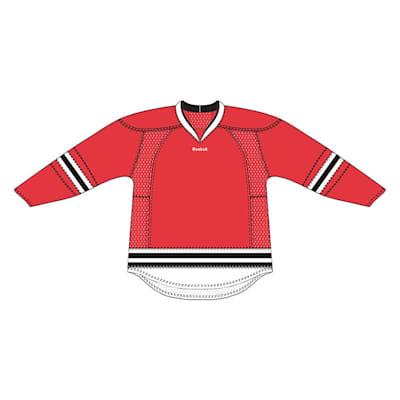 Red (Reebok 25P00 NHL Edge Gamewear Hockey Jersey - Chicago Blackhawks - Senior)