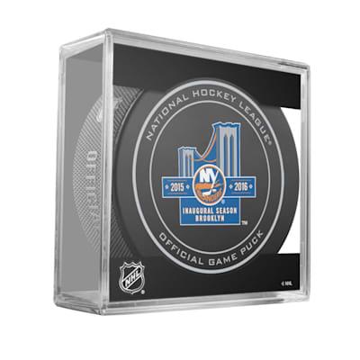 20th Inaugural Season Puck NYI (Sher-Wood 960T 20th Inaugural Season Hockey Puck - New York Islanders)