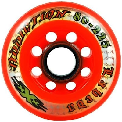 Labeda Addiction XXX (Labeda Addiction XXX Inline Hockey Wheels - Black/Orange)