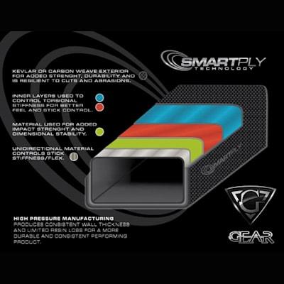 GEAR Fusion 150S Grip Hockey Stick (Gear Fusion 150S Grip Hockey Stick - Intermediate)