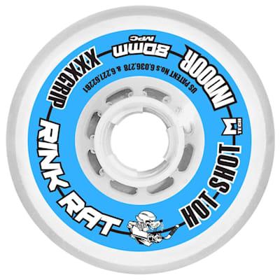 Rink Rat Hot Shot Inline Hockey Wheels - Blue/Whit (Rink Rat Hot Shot Inline Hockey Wheels - Blue/White)