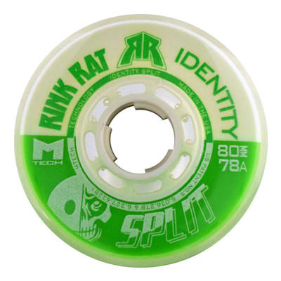 Rink Rat Identity Split (Rink Rat Identity Split Inline Hockey Wheels - Green/White)