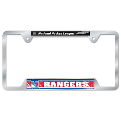 Metal License Frame NYR (Wincraft Metal Hockey License Plate Frame)