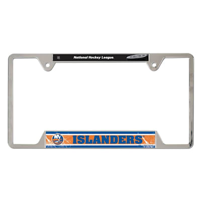 Metal License Frame NYI (Wincraft Metal Hockey License Plate Frame)