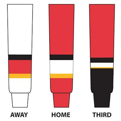 (NHL Team Hockey Socks - Calgary Flames - Intermediate)