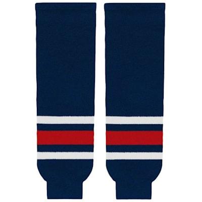(NHL Team Hockey Socks - Columbus Blue Jackets - Youth)