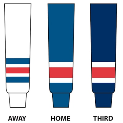 (NHL Team Hockey Socks - New York Rangers - Intermediate)