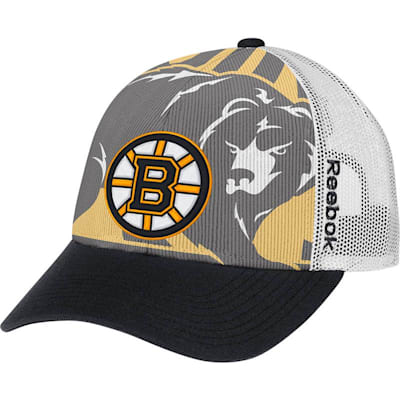 NX28Z Draft Cap Hat BOS (Reebok Draft Cap Structured Snapback Hockey Hat - Boston Bruins)
