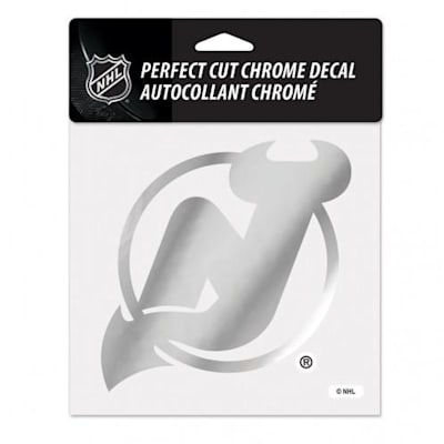 Perfect Cut Chrome Decal NJ (Wincraft Perfect Cut Hockey Chrome Decal)