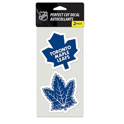 Perfect Cut Decal 2PK Leafs (Wincraft NHL Wincraft Perfect Cut Decal - Toronto Maple Leafs 2 Pack)