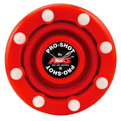 Red (IDS Pro Shot Inline Hockey Puck)
