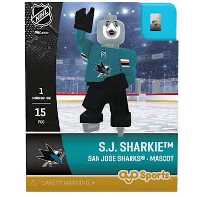 S.J. Sharkie Minifigure SJ (OYO Sports S.J. Sharkie Minifigure - San Jose Sharks)