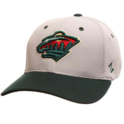 The Athlete Fitted Hat MIN (Zephyr The Athlete Fitted Hockey Hat - Minnesota Wild - Senior)