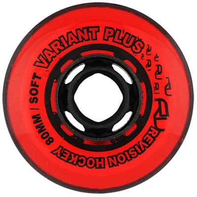 Variant Plus Indoor Wheels (Revision Variant Plus Indoor Inline Hockey Wheels - 74A - Red)