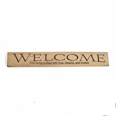 "Painted Pastimes Welcome This Home (Painted Pastimes WELCOME This home... Sign - 24"" x 3.5"")"
