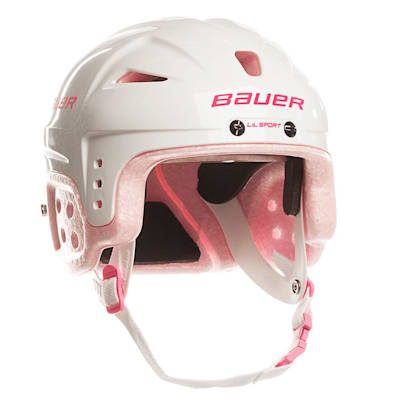 Pink (Bauer Lil Sport Hockey Helmet - Youth)