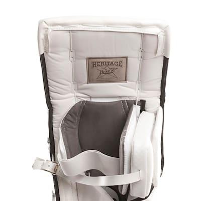 Heritage Leg Pads - Back Close up (Brians Heritage Goalie Leg Pads - Senior)