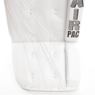 Heritage Leg Pads - Front Close up (Brians Heritage Goalie Leg Pads - Senior)