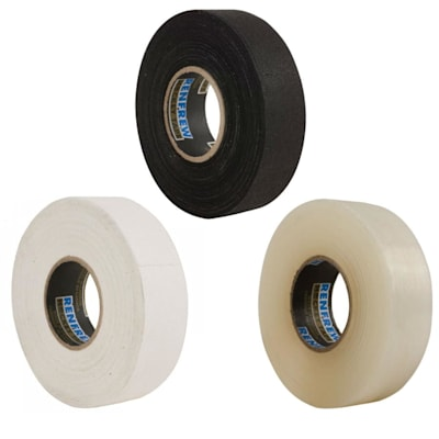 Renfrew 12 Pack Tape (Renfrew Hockey Tape 12 Pack - 6 White / 2 Black / 4 Clear)