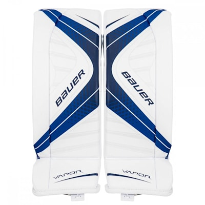 White/Navy (Bauer Vapor X700 Hockey Goalie Leg Pads - Junior)
