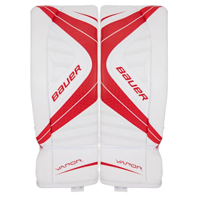 White/Red (Bauer Vapor X700 Goalie Leg Pads - Junior)