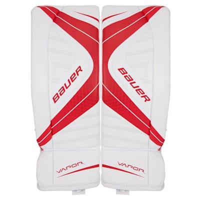 White/Red (Bauer Vapor X700 Hockey Goalie Leg Pads - Junior)