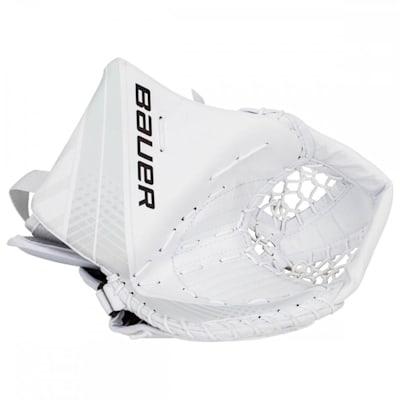 White/White (Bauer Vapor X700 Hockey Goalie Catcher - Senior)