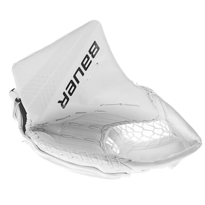 White/White (Bauer Vapor 1X Hockey Goalie Catcher - Intermediate)