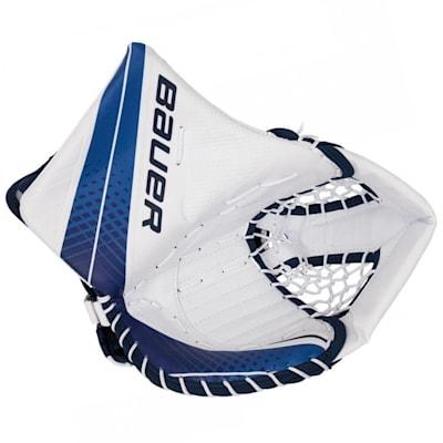 White/Blue (Bauer Vapor X900 Goalie Catch Glove - Intermediate)