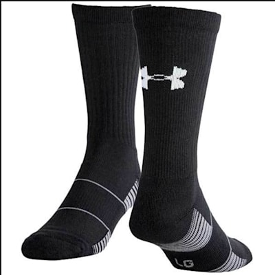 Black (Under Armour Team Crew Sock - Adult)
