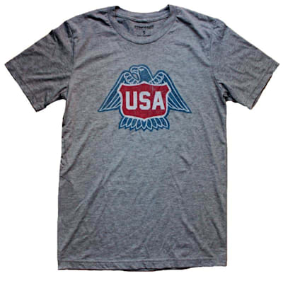 1976 USA HOCKEY GREY TEE (1976 USA Hockey Tee - Mens)