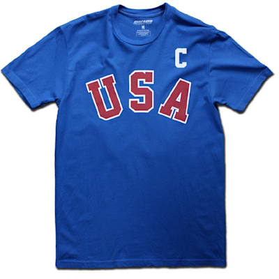 ERUZIONE 1980 MIRACLE AWAY JERSEY (1980 Mike Eruzione Miracle USA Hockey Jersey Tee - Mens)