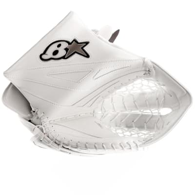 White/White (Brians Gnetik 8.0 Goalie Catch Glove - Senior)