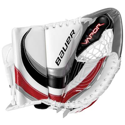 Open - White/Silver/Black/Red (Bauer Vapor X:60 Pro Goalie Catch Glove - Senior)