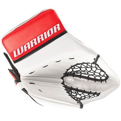 White/Red/Black (Warrior Ritual GT Classic Goalie Catch Glove - Intermediate)