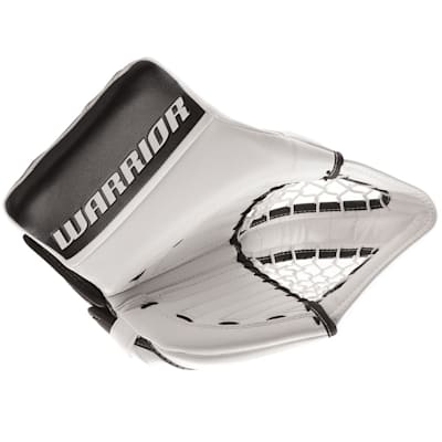 White/Black (Warrior Ritual GT Classic Goalie Catch Glove - Intermediate)