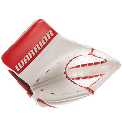 White/Red (Warrior Ritual GT Classic Goalie Catch Glove - Senior)