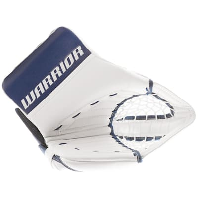 White/Blue (Warrior Ritual GT Classic Goalie Catch Glove - Senior)