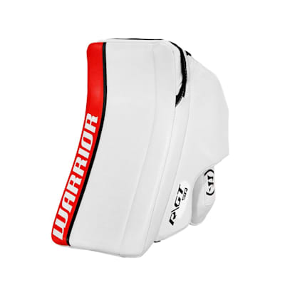 White/Red/Black (Warrior Ritual GT Classic Goalie Blocker - Senior)