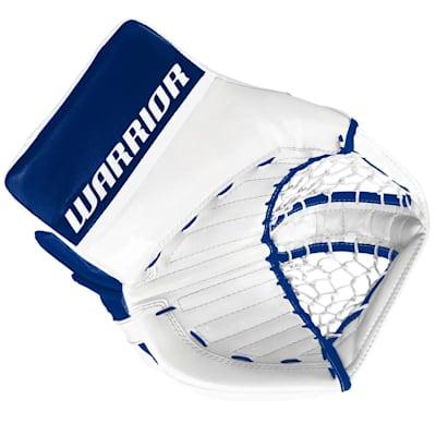 White/Blue (Warrior Ritual GT Pro Classic Goalie Catch Glove - Senior)